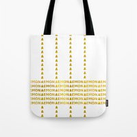 lemon Tote Bags featuring Lemon by ARTbyJWP