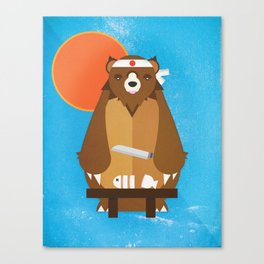 Sushi Bear Canvas Print