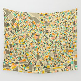 Milan Map Wall Tapestry