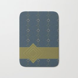 Teal Tile with Ribbon Bath Mat