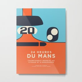 Le Mans Minimal Retro C Metal Print