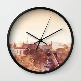 Glimpses of Art poster design (without text) Wall Clock