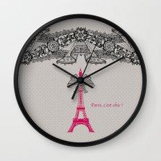 Paris c'est Chic ! Wall Clock