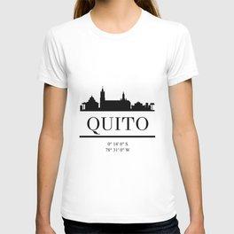 QUITO ECUADOR BLACK SILHOUETTE SKYLINE ART T-shirt