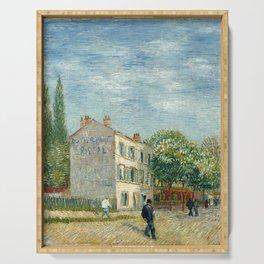 Restaurant Rispal at Asnieres by Vincent van Gogh Serving Tray