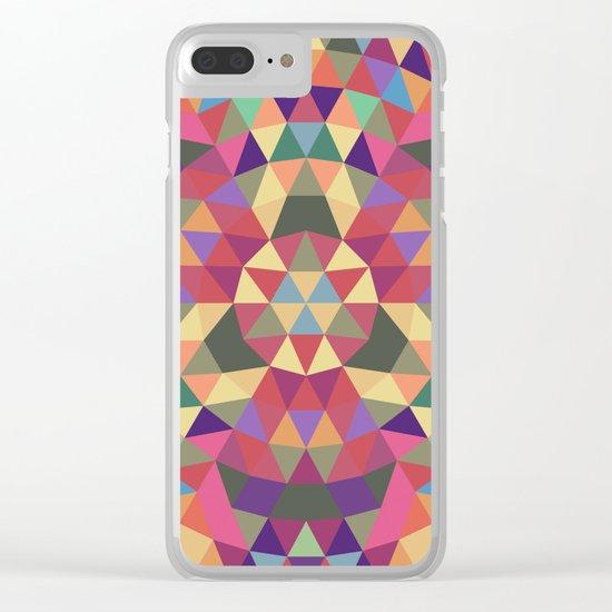 Tribal triangle mandala Clear iPhone Case