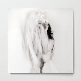WHITE BRIDE Metal Print