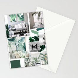 Tropical aesthetic mood board Stationery Cards