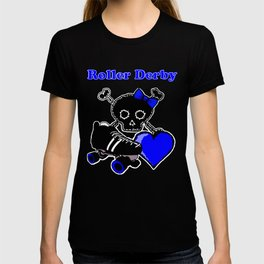 Roller Derby Heart (Blue) T-shirt