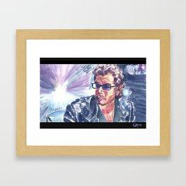 "Jurassic Park : Jeff Goldblum/Ian Malcom : ""Chaotician 4 / 4"" Framed Art Print"