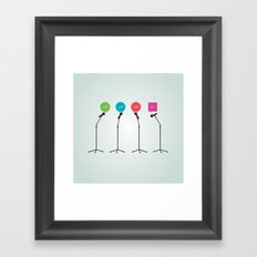 The Not So Fab Four Framed Art Print