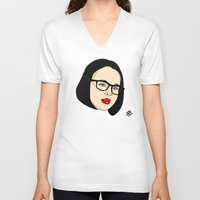 ghost world V-neck T-shirts featuring Ghost world by Bleachydrew