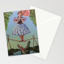 Haunted Mansion Portrait: Trapeze Girl Stationery Cards