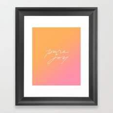 Pure Joy Framed Art Print