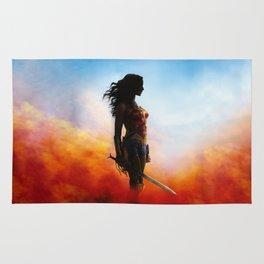 fighter woman Rug