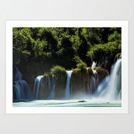 Krka Waterfall Landscape No. 1, Croatia Art Print