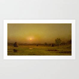 Martin Johnson Heade - Marsh Sunset, Newburyport, Massachusetts Art Print