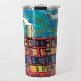 Ship at Sea Illustration 56 Travel Mug