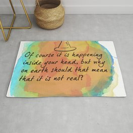 it is happening inside your head Rug