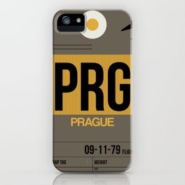 PRG Prague Luggage Tag 1 iPhone Case