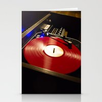 vinyl Stationery Cards featuring Vinyl by carcar2110
