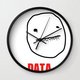 Data Meme Wall Clock