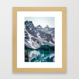 Paddling on Moraine Lake Framed Art Print