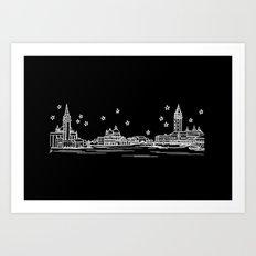 Venezia (Venice), Italy City Skyline Art Print