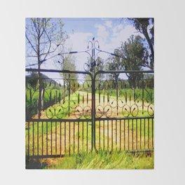 Wrought Iron Vintage Farm Gate Throw Blanket