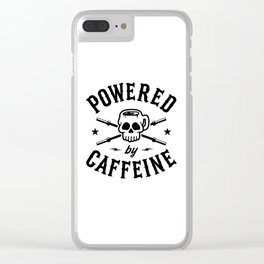 Powered By Caffeine Clear iPhone Case