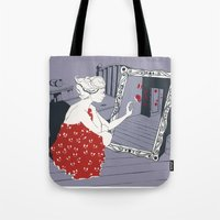 mirror Tote Bags featuring mirror by liva cabule