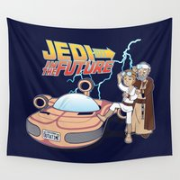 jedi Wall Tapestries featuring JEDI IN THE FUTURE by Bamboota