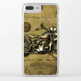 Old Motorcycle Clear iPhone Case