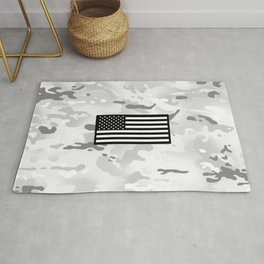 Arctic Camouflage: Black Flag Rug