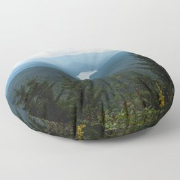 Smoky Mountain National Park -  Mountain Lake Landscape Floor Pillow