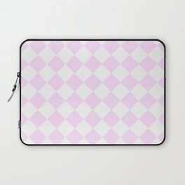 Diamonds - White and Pastel Violet Laptop Sleeve