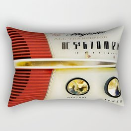 My Grand Father Classic Old vintage Radio Rectangular Pillow