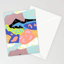 Abstract Postmodern Landscape Stationery Cards