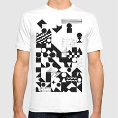 GRID Mens Fitted Tee MEDIUM White
