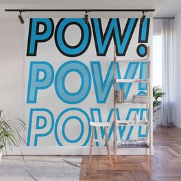 POW! Comic Book Style/POP Art Sound Effect Typography Wall Mural