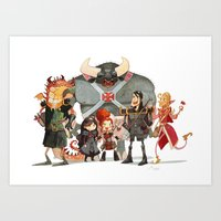 dungeons and dragons Art Prints featuring Dungeons and Dragons by Markus Erdt