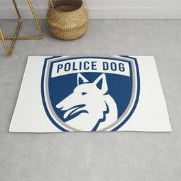 Police Dog Shield Mascot Rug