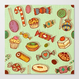 candy and pastries Canvas Print