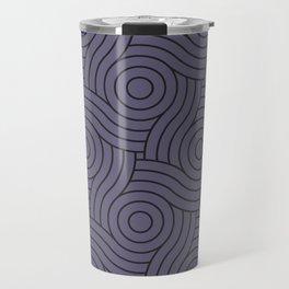 Circle Swirl Pattern VA Mystical Purple - Metropolis Lilac - Dried Lilacs Travel Mug