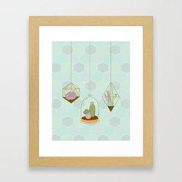 Cactus Terrarium Framed Art Print