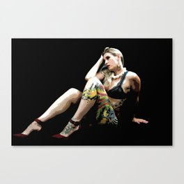 Tatted Beauty Canvas Print
