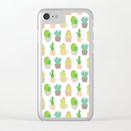 Cactus Dreams Clear iPhone Case