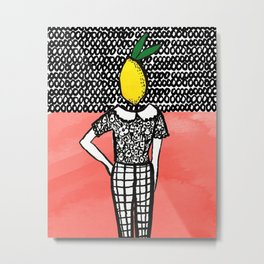 Lemon Head Metal Print
