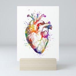 Heart Anatomy Art Heart Watercolor Art Anatomy Art Anatomical Heart Surgery Gift Medical Gift Mini Art Print