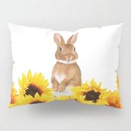 Sunflower Rabbit Pillow Sham
